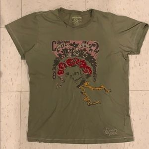 True religion men embroidered t shirt. Distressed